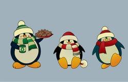 Пингвины рождества Стоковая Фотография RF