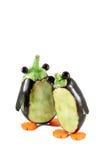 Пингвины сделанные от aubergines Стоковое Фото