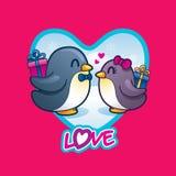 Пингвины любовников Стоковые Фото