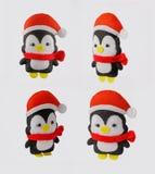 Пингвин игрушки руки Украшение рождества оленей мягкая игрушка Стоковая Фотография RF