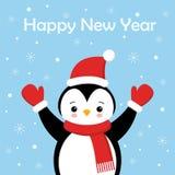 Пингвин рождества милый маленький с крышкой Санта s Персонаж из мультфильма рождества милый животный бесплатная иллюстрация