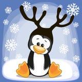 Пингвин с antlers иллюстрация штока