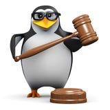 пингвин 3d держит аукцион бесплатная иллюстрация