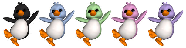 пингвин toon Стоковые Изображения RF