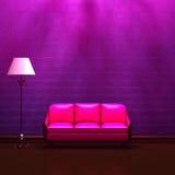 пинка светильника кресла стандарт нутряного пурпуровый иллюстрация вектора