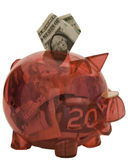 пинк банка piggy Стоковое фото RF