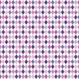Пинк безшовной предпосылки диаманта argyle фиолетовый Стоковые Изображения
