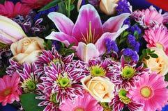 пинк букета флористический Стоковые Изображения RF