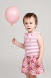 пинк девушки воздушного шара милый Стоковая Фотография RF