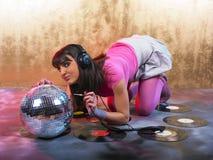 пинк девушки диско Стоковое Изображение RF