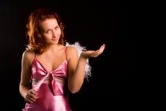 пинк девушки красотки ангела Стоковые Изображения
