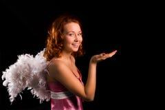 пинк девушки красотки ангела Стоковые Фото