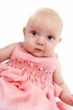 пинк девушки платья младенца Стоковые Изображения