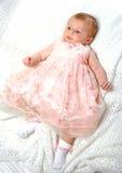 пинк девушки платья младенца Стоковое Фото