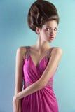 пинк девушки платья шикарный довольно Стоковые Изображения