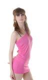 пинк девушки платья Стоковое Изображение RF