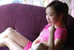пинк девушки стоковое изображение rf
