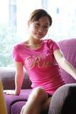 пинк девушки стоковая фотография rf