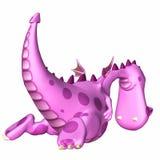 пинк дракона шаржа Стоковое Фото