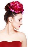 пинк девушки цветков Стоковое Изображение