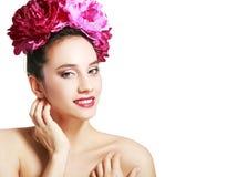 пинк девушки цветков Стоковое Изображение RF