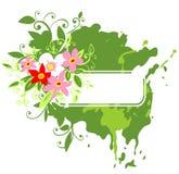 пинк зеленого цвета рамки цветков бесплатная иллюстрация