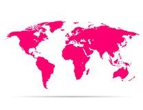 Пинк земли карты с тенью Стоковая Фотография
