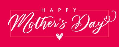 Пинк знамени каллиграфии счастливого дня ` s матери элегантный Стоковое фото RF