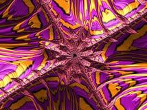 Пинк и желтая абстрактная текстурированная фракталь, 3d представляют для плаката стоковые фотографии rf