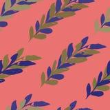 Пинк и пурпурный безшовный дизайн картины watercolour листьев бесплатная иллюстрация