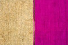 Пинк и ткань золота Стоковое Изображение RF