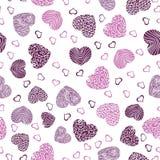 пинк картины сердец безшовный Стоковые Изображения RF