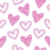пинк картины сердец безшовный Иллюстрация штока