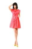 пинк красивейшего способа платья миниый модельный Стоковые Фото