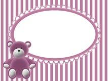 пинк медведя предпосылки младенцев Стоковые Изображения