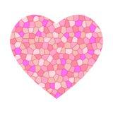 пинк мозаики сердца Стоковые Фото