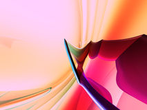 пинк персика предпосылки 3d голубой Стоковое Изображение