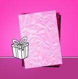 пинк подарка бумажный Стоковые Фотографии RF