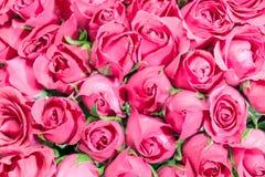 Пинк предпосылки букета роз, Стоковое Изображение