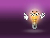 Пинк предпосылки идеи света лампы шарика Стоковая Фотография