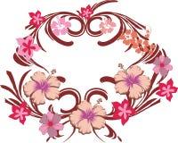 пинк рамки 02 цветков Стоковые Фотографии RF