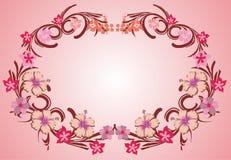 пинк рамки 07 цветков Стоковые Изображения