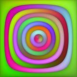 Пинк растра Multicolor зеленый затеняет предпосылку концентрических кругов градиента абстрактную иллюстрация штока