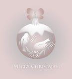Пинк рождественской открытки Стоковые Изображения