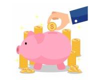 Пинк свиньи сбережений Стоковое фото RF