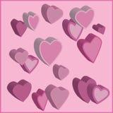 пинк сердец Стоковое фото RF