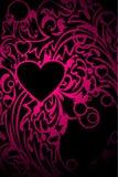 пинк сердца орнаментальный Стоковая Фотография RF
