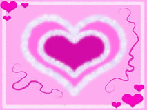 пинк сердца рамки Иллюстрация штока