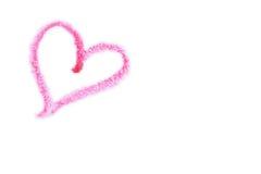 пинк сердца crayon Стоковое Изображение RF