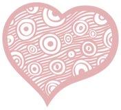 Пинк сердец Doodle пастельный Стоковая Фотография RF